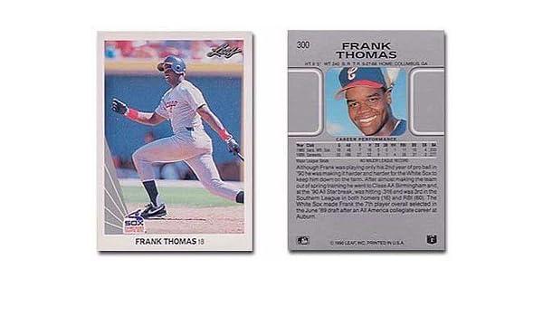 Amazoncom 1990 Leaf Frank Thomas Rookie Baseball Card 300