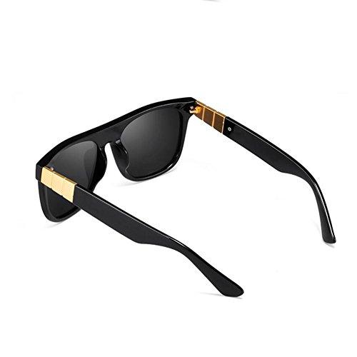 unisex Color sol Hombres Mujeres polarizadas Gafas de Plata conducción La Alta de Gafas Negro calidad HONEY xTnAqFYn