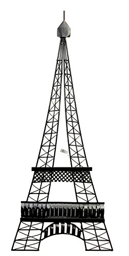 Bellaa 27352 Eiffel Tower Metal Wall Art Paris Iron Wall Deco 39inch