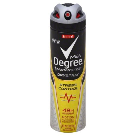 Degree Stress Control Men Motion Sense Dry Spray Anti Perspi