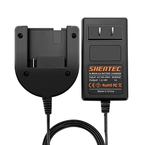 Shentec 1.2V-18V Ni-MH/Ni-Cd Charger Compatible with Porter Cable PC18B PCC489N Slide-in Style Battery (Not for Li-ion Battery) ()