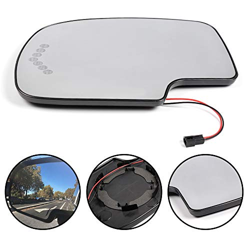 Chevy Silverado Turn Signal - G-PLUS Driver Side Left Side Heated Mirror Glass with Turn Signal Without Auto Dimming for 2003-2006 Chevy Avalanche Silverado Suburban GMC Tahoe Sierra Yukon Cadillac