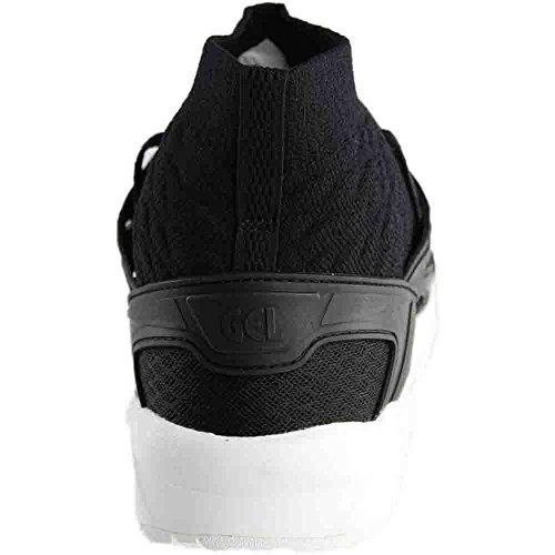 Asics Hommes Gel Kayano Trainer Tricot (blanc) Noir / Noir