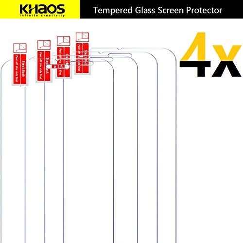 outlet [4-PACK]-KHAOS For Kyocera DuraForce Pro [Tempered Glass