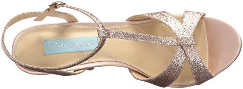 Blu By Betsey Johnson Donna Sb-teena Abito Sandalo Champagne Glitter