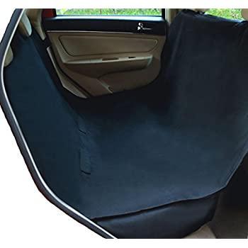 NAC&ZAC Waterproof Hammock Pet Seat Cover for Cars and SUV with Seat Anchors, Nonslip, Extra Side Flaps, Machine Washable Barrier Dog Seat Cover,