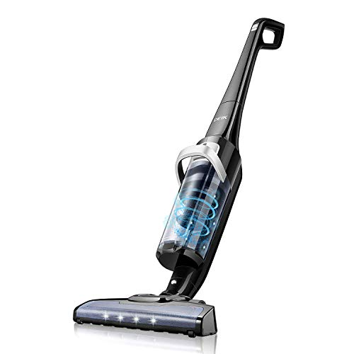 Cordless Vacuum Cleaner, Deik Stick Vacuum, 50 Mins Long Lasting Vacuum Cleaner with 28.8V Lithium-ion Battery, 0.9L Large Dirt Bin, Lightweight Vacuum for Pet Hair Hard Floor Carpet