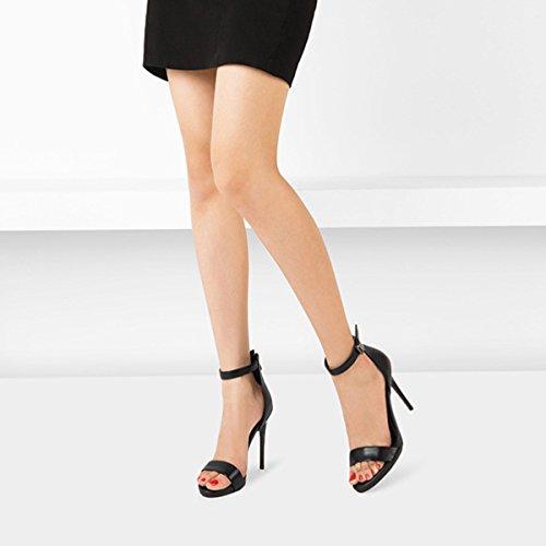 Classique Mesdames Talons D'honneur Pointu Demoiselle Bout SandalsParty Chaussures Sexy Mariage D'été à Strap Black Pompes De Hauts Femmes Smart Fqn6O6