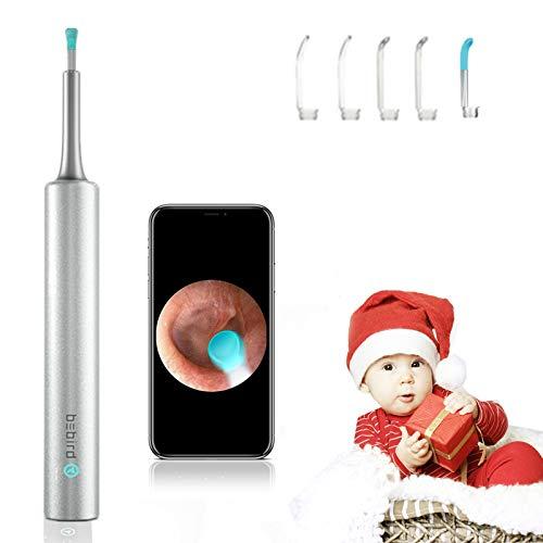 【Upgraded】 3.9mm Earwax Removal Kit Wireless Otoscope Wi-Fi Ear Endoscope Earwax Removal Curette HD 1080P Digital Ear…