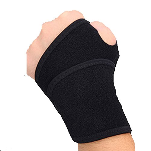 Dconfident Wrist Brace Fitted Right and Left Thumb Stabilizer Wrist Wraps Compression Support One Size - Mannequin Movie Sunglasses