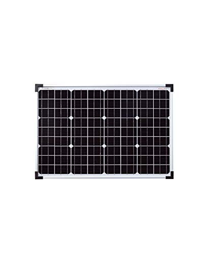 enjoysolar® Monokristallines 24V Solarmodul Solarpanel ideal für Garten Wohnmobil Caravan
