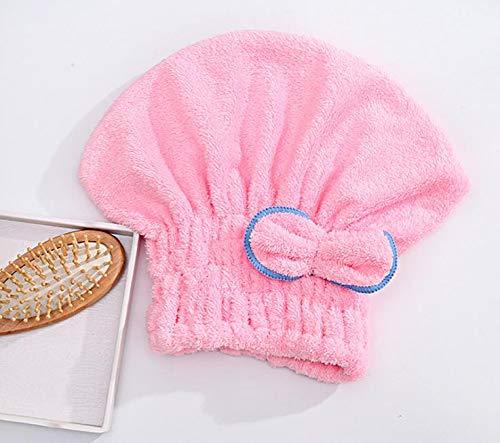 APIKA Cheveux mouill/és Cheveux secs Casquette en Laine de Corail Super Absorbant Doux et Confortable Respirant Facile /à Nettoyer Ensemble de 3 Couleurs