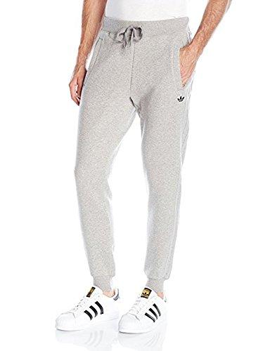 adidas Originals Men's Originals Classic Trefoil Sweatpants, Small, Medium Grey - Original Jogger