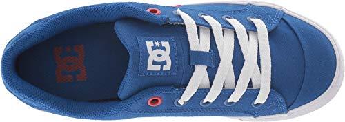Image of DC Women's Chelsea TX Skate Shoe, Royal/White, 7.5 B M US