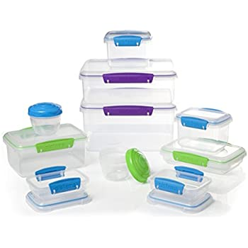 Sistema Multi Piece Food Storage Containers In Assorted Shapes And Colors,  Set Of 20,