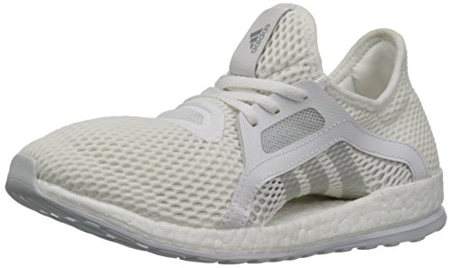 Adidas Performance Pure Boost X Running Shoe,black/shock Green/black,5.5 M Us White/Metallic Silver/Clear Grey S12