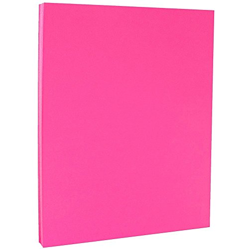 JAM PAPER Colored 24lb Paper - 8.5 x 11 Letter - Ultra Fuchsia Pink - 100 -