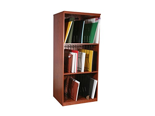 Storage Solutions Series SS3000-HM 36 X 31 X 84 Portfolio Storage in Hardrock Maple44; 3 Shelves44; Adjustable Black Wire Slots44; Without Doors44; Levelers