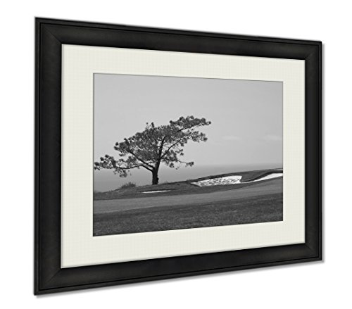 Ashley Framed Prints View From Torrey Pines Golf Course, Wall Art Home Decoration, Black/White, 26x30 (frame size), AG5597047 by Ashley Framed Prints