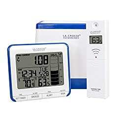 La Crosse Technology 724-1710 Wireless Rain Gauge Weather Station with Thermometer