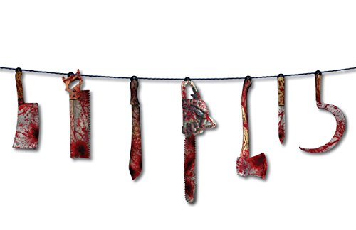 UPC 721773750281, Forum Novelties Bloody Weapon Garland, 6', Red