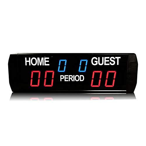NEWTRY 得点板 スコアボード スポーツタイマー LEDタイマー 6桁 バスケ/サッカー/卓球/バドミントン/柔道/競技/試合など用 B07SDFPRB5 三脚