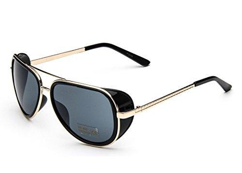 Caixia Unisex S005 Horn Rimmed Metal Frame Side Shield Aviator 58mm - Sunglasses Stark Tony