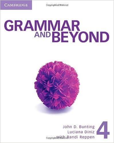 grammar and beyond workbook 1 answer key