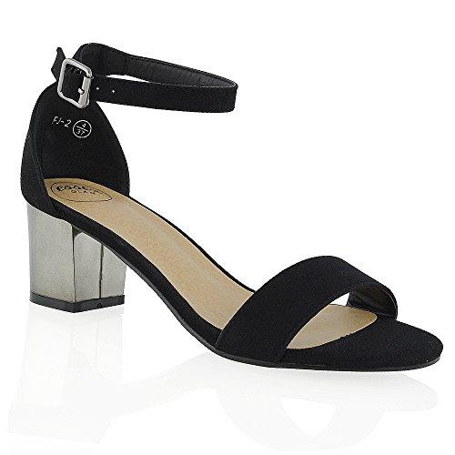 ESSEX GLAMFj-2 - Zapatos de tacón  mujer Black Faux Suede