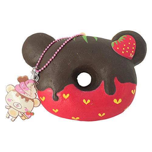 LIMITED SCENTED Yummiibear Donut + Bonus Squishy from Jenna Lyn! (Chocolate Dipped Strawberry)