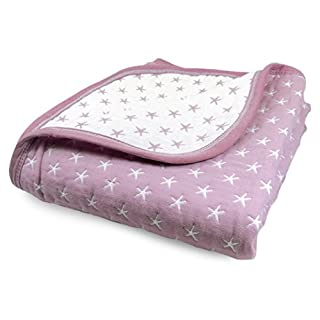 Cute New York Baby Blanket (Star Purple)