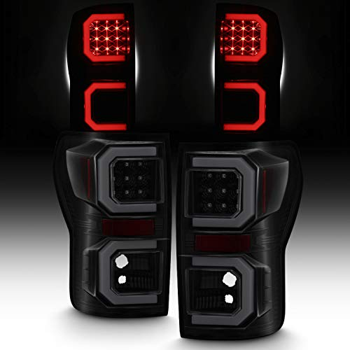 BlacK Smoked For 2007-2013 Toyota Tundra Pickup Truck [Tube Bar] LED Tail lights Left+Right Pair 07-13