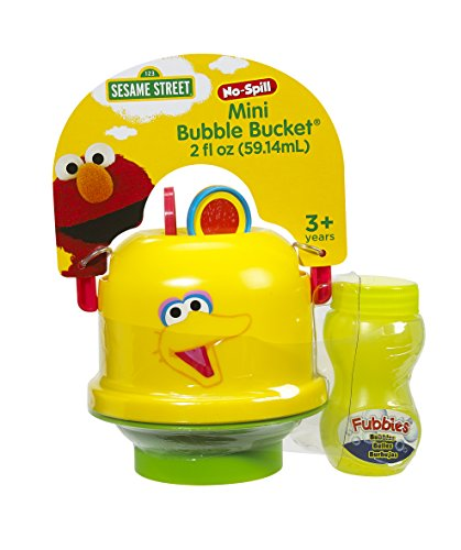 (Little Kids Sesame Street Mini No-Spill Bubble Bucket Big Bird)