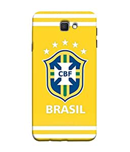 ColorKing Football Brazil 25 Yellow shell case cover for Samsung J5 Prime