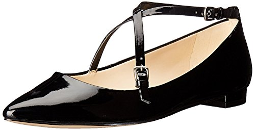 Nine West WomenS Anastagia Synthetic Pointed Toe Flat, Negro, 38 B(M) EU/6 B(M) UK