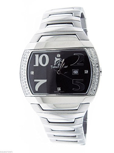 Watch Diamond Swiss Techno (Techno Master Women Swiss Movt 0.60ct Diamonds Stainless Steel Band Tm-2076)