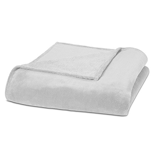 unbrand Super Soft Coral Fleece Blanket Fuzzy Warm and Comfortable All Year Bed Blanket White/Twin from unbrand