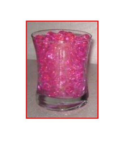 *(Promotion – Buy 3 Get 1 Free) 14 Gram Package – Deco Water Beads – Colorful Vase Filler & Centerpiece, Wedding Favors & Unlimited Uses & Create Your Own Candle Holders (Pink)