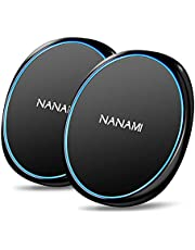 NANAMI Fast Wireless Charger[2 PACK],7.5W Wireless Charging Pad Compatible iPhone 12/12Pro/SE 2/11/11 Pro/11 Pro Max/XS Max/XR/X/8+,10W Fast Charge Samsung S21 S20 fe S10 S9 Note 20/10+,5W AirPods Pro