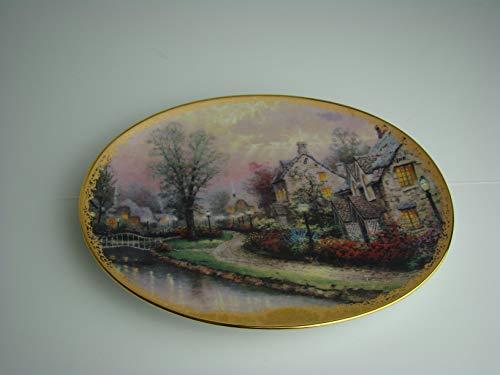 Bradford Exchange Lamplight Lane by Thomas Kinkade Limited Edition Finest Porcelain Plate