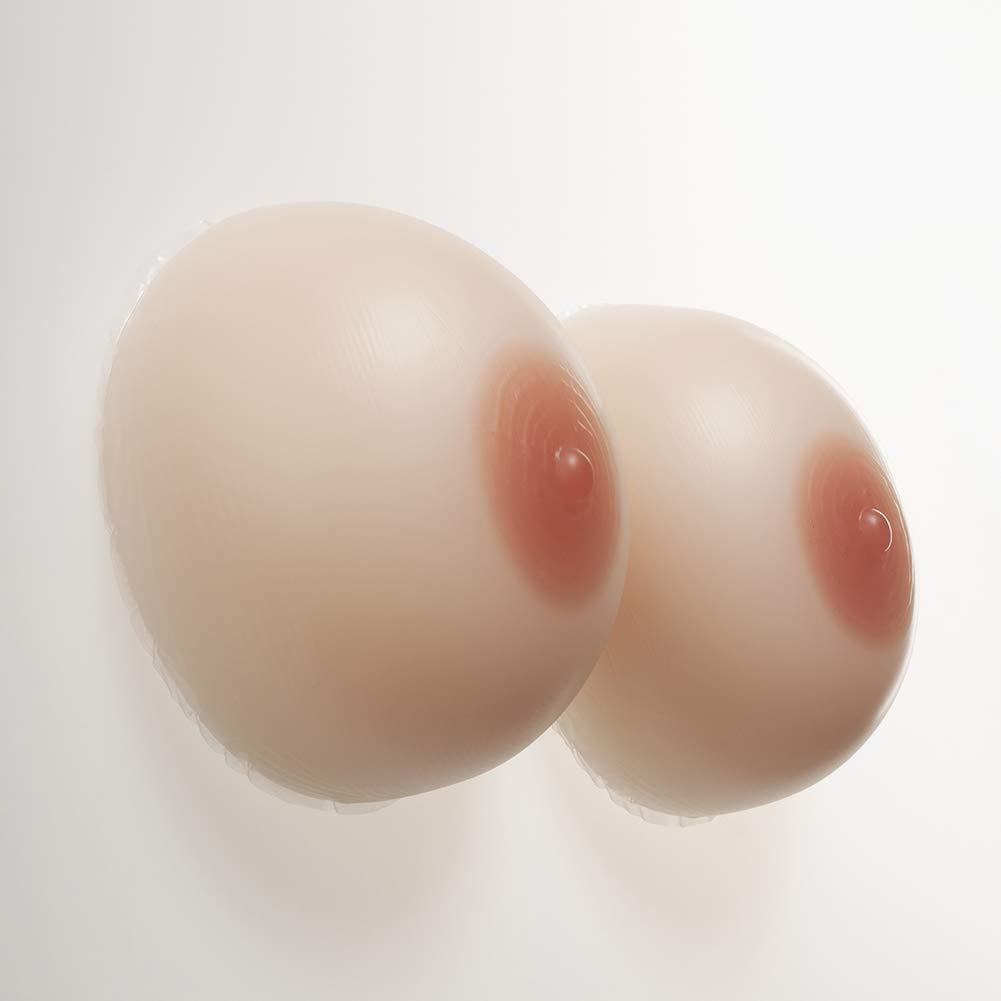 Silicone Breast Forms False Boobs Lifelike Non-Allergic for Crossdresser Transgender Mastectomy,3,2400G/7XL/Cupg/6.7 * 6.1 * 4.1Inch