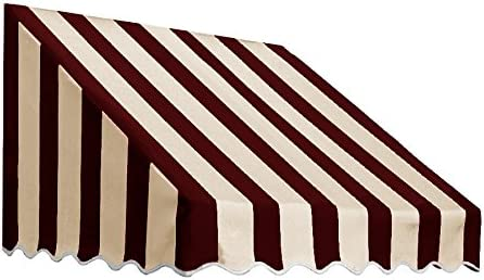 Awntech 6-Feet San Francisco Window Entry Awning, 31-Inch Height by 24-Inch Diameter, Burgundy Tan