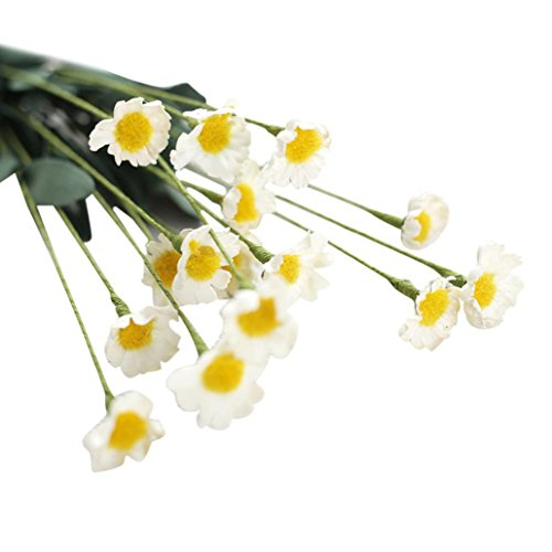 Hot Sale!!Woaills 1Pcs Of 15 Heads Artificial Silk Fake Flowers Small Daisy Wedding Bouquet Party Home Decor - Flannel Daisy Fabric