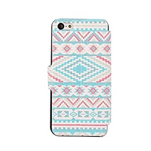 MOFY-Cruz Angel Wings Patr-n Hard Case para el iPhone 5/5S de policarbonato , Multicolor