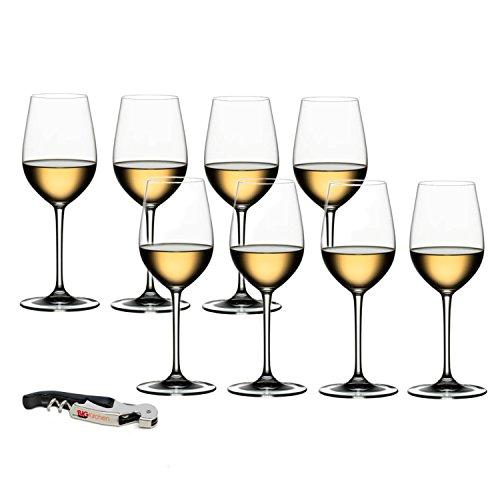 (Riedel Vinum XL Leaded Crystal Riesling Grand Cru Wine Glass Set, Buy 6 Get 8 with Bonus BigKitchen Waiter's)