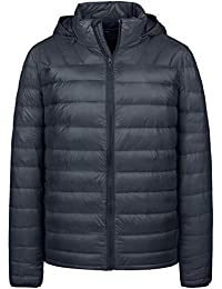 5d6ec5f4c Men's Packable Lightweight Insulated Puffer Down Jacket Winter Coat with  Removable Hood