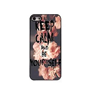 YULIN Keep Calm and Be Yourself Design Aluminum Case for iPhone 5/5S