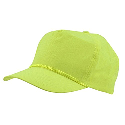 Nylon Crinkle Golf Cap - Neon Yellow (Cameo Hat)