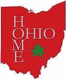 U.S. Custom Stickers Ohio Home Printed Sticker Red (3 inch)