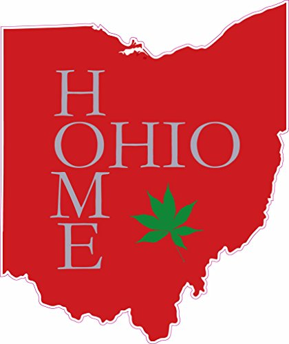 Floridian Red Vinyl - U.S. Custom Stickers Ohio Home Printed Sticker Red (3 inch)